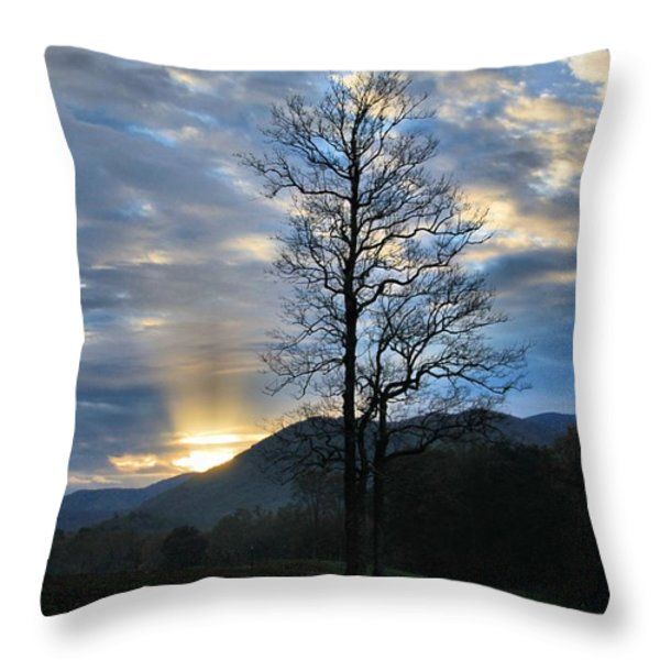 Sunrise In Cades Cove Throw Pillow by Dan Sproul