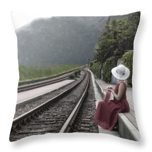 Waiting Throw Pillow by Joana Kruse