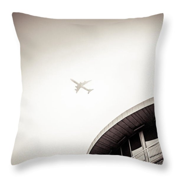 walking along the Thames Throw Pillow by Lenny Carter