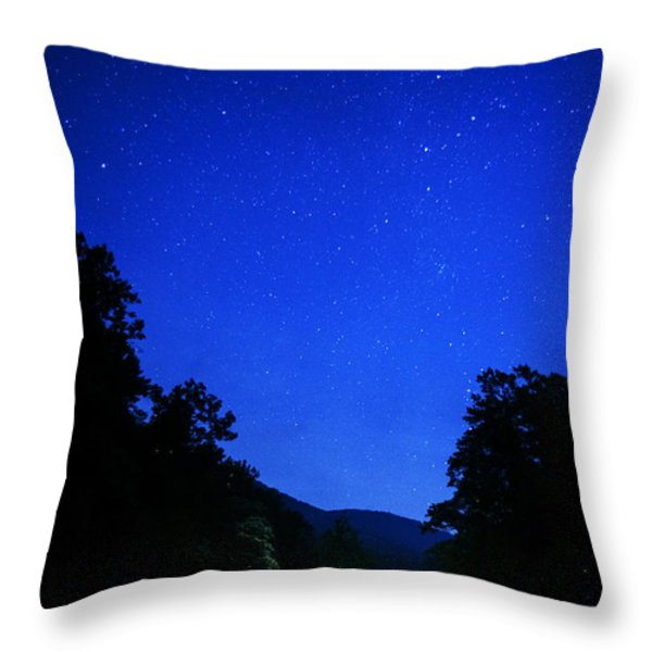 Williams River Summer Solstice Night Throw Pillow by Thomas R Fletcher