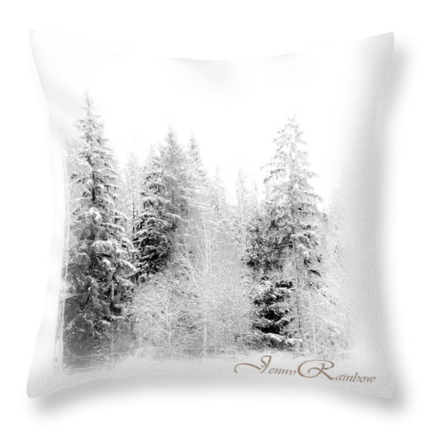 Winter Wonderland. Elegant Knickknacks From Jennyrainbow Throw Pillow by Jenny Rainbow