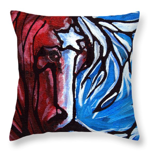 #43 July 4th Throw Pillow by Jonelle T McCoy