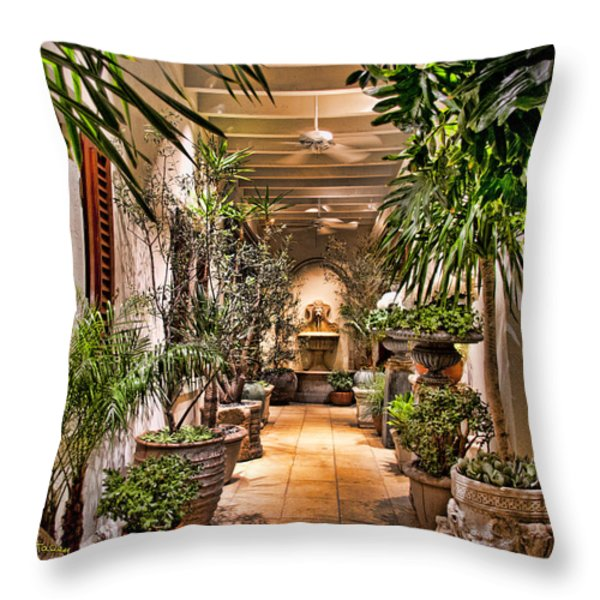 444 Rodeo Drive Throw Pillow by Chuck Staley