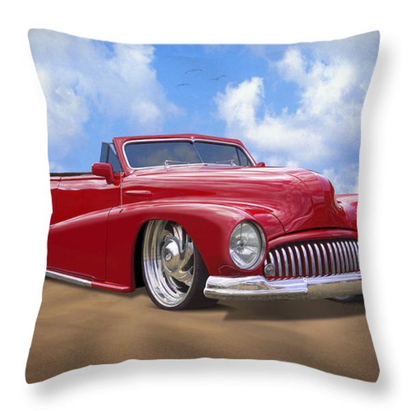 48 Buick Convertible Throw Pillow by Mike McGlothlen