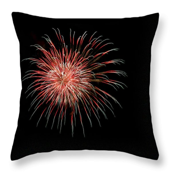 4th of July 4 Throw Pillow by Marilyn Hunt