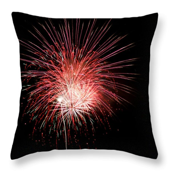 4th Of July 8 Throw Pillow by Marilyn Hunt