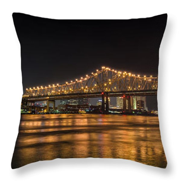 4th Of July Over The Big Easy Part Deaux Throw Pillow by David Morefield