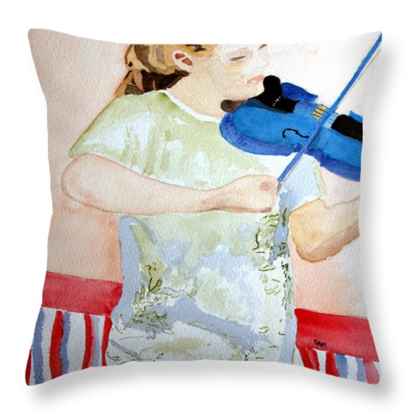 4th of July Throw Pillow by Sandy McIntire