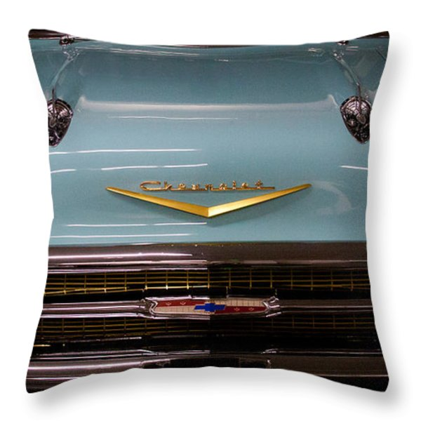1957 Chevy Bel Air Throw Pillow by David Patterson