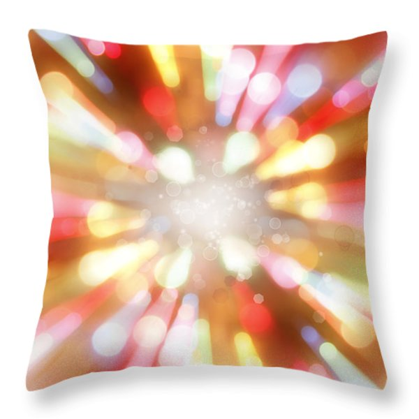 Bright background  Throw Pillow by Les Cunliffe