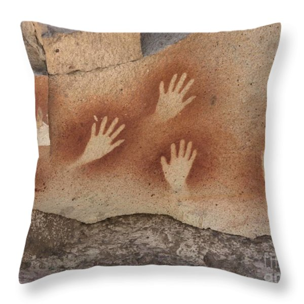 Cave Of The Hands Argentina Throw Pillow by Javier Trueba MSF SPL