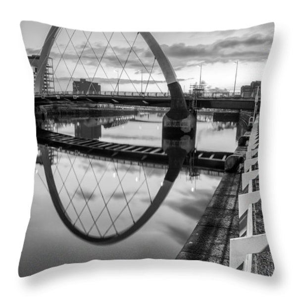 Clyde Arc Squinty Bridge Throw Pillow by John Farnan