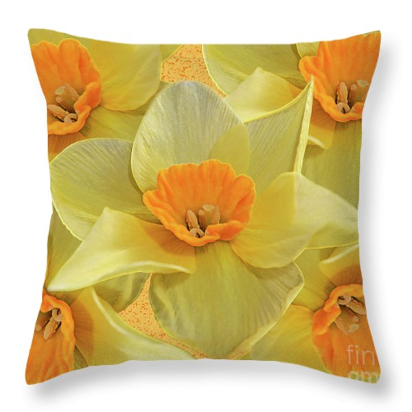 5 Daffy's On Parade Throw Pillow by Andee Design