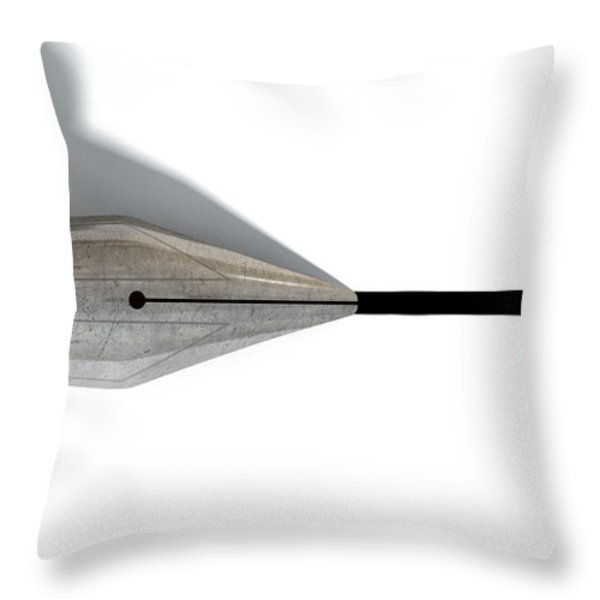 Drawing The Line Throw Pillow by Allan Swart