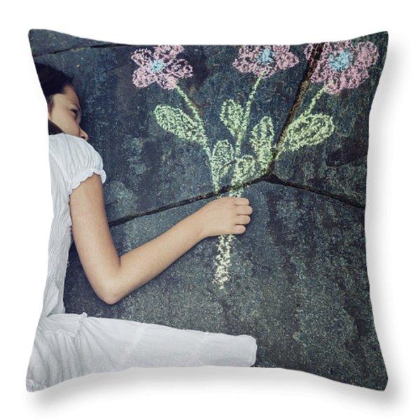 flowers Throw Pillow by Joana Kruse