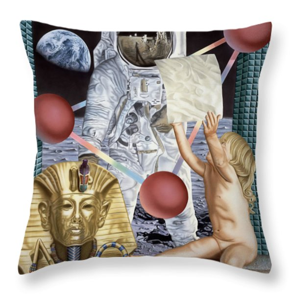 Instructions Throw Pillow by Rich Milo