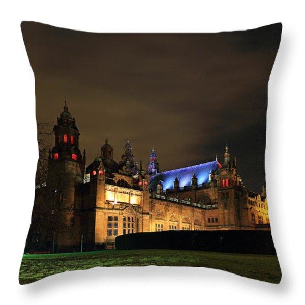 Kelvingrove Museum Throw Pillow by Grant Glendinning