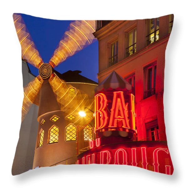 Moulin Rouge Throw Pillow by Brian Jannsen