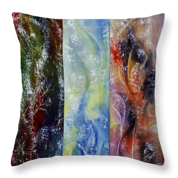 Painted Fabric Throw Pillow by Melinda Firestone-White