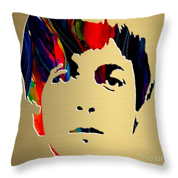 Paul Mccartney Gold Series Throw Pillow by Marvin Blaine
