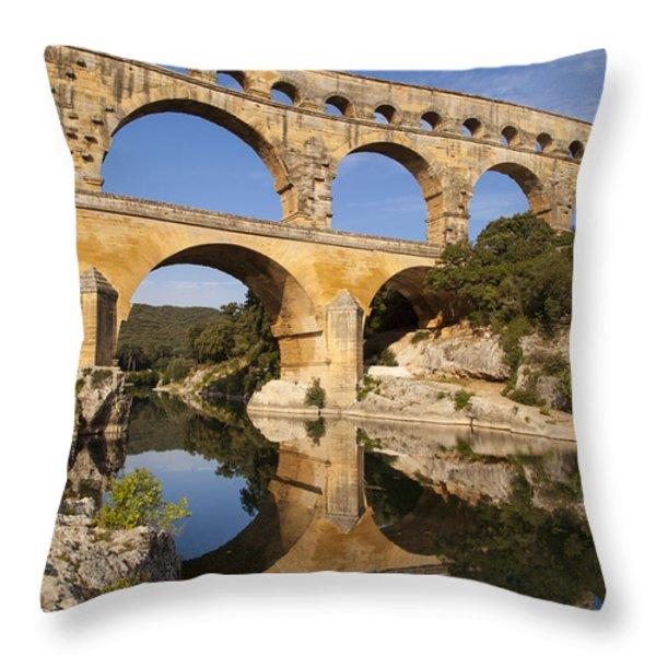 Pont Du Gard Throw Pillow by Brian Jannsen