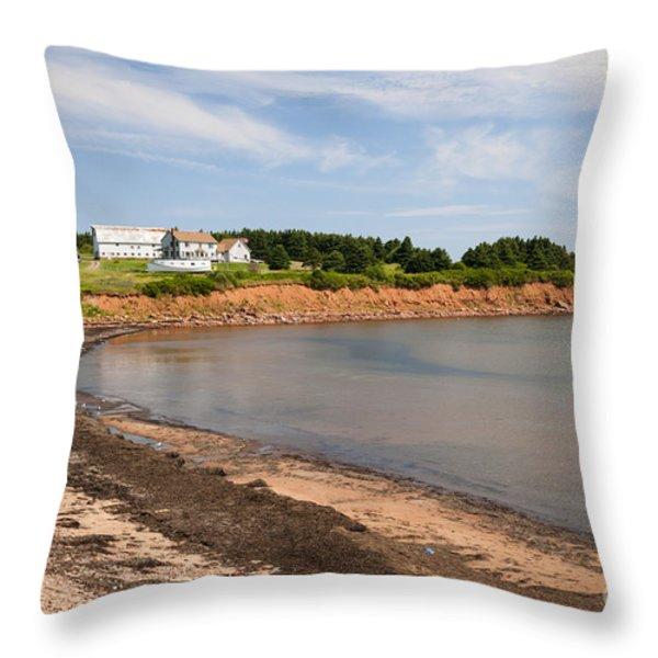 Prince Edward Island Coastline Throw Pillow by Elena Elisseeva