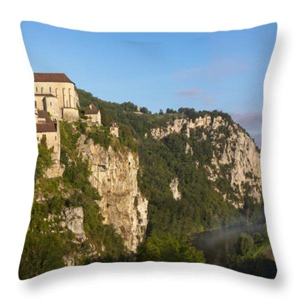 Saint Cirq Lapopie Throw Pillow by Brian Jannsen