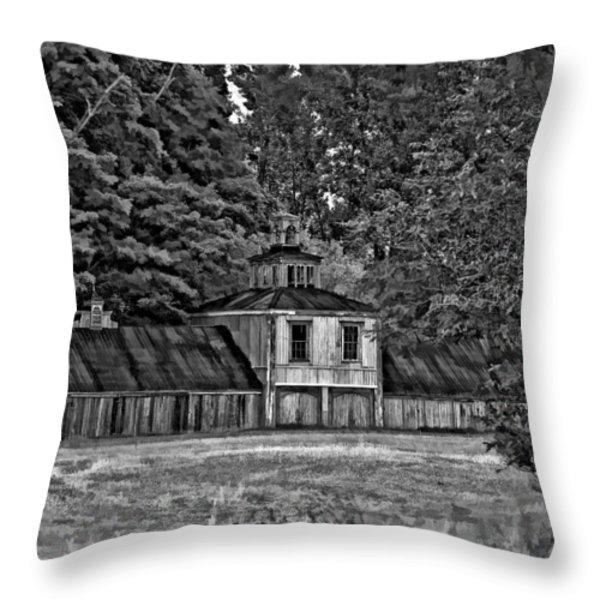5 Star Barn Bw Throw Pillow by Steve Harrington