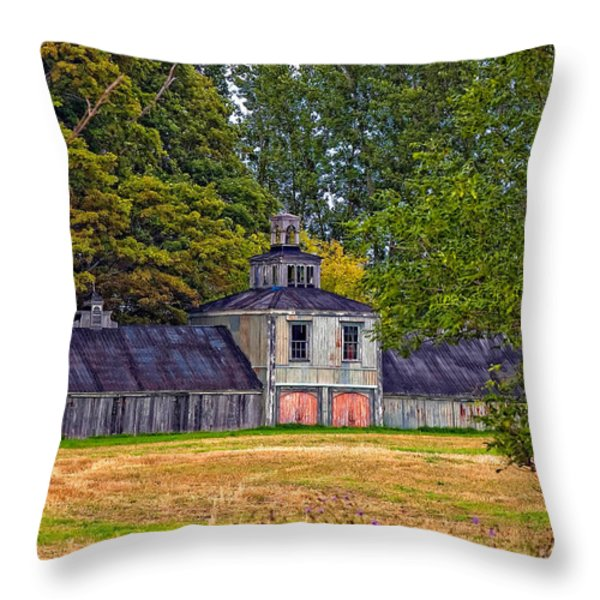 5 Star Barn Throw Pillow by Steve Harrington