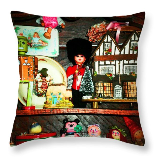 VINTAGE POP Throw Pillow by Donatella Muggianu