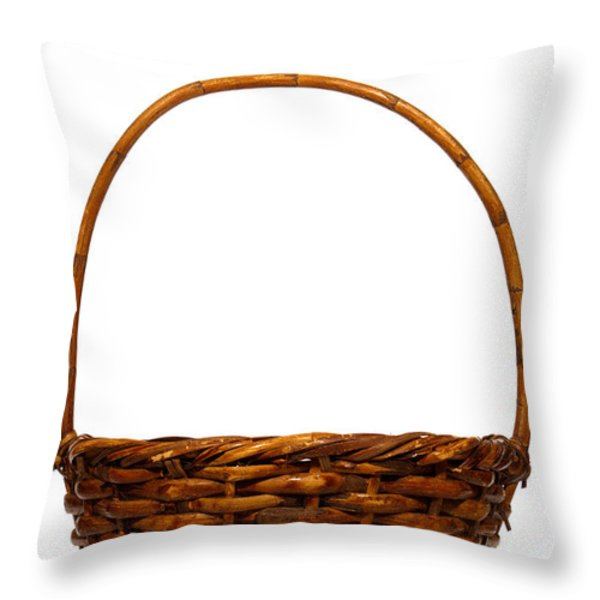 Wicker Basket Throw Pillow by Olivier Le Queinec