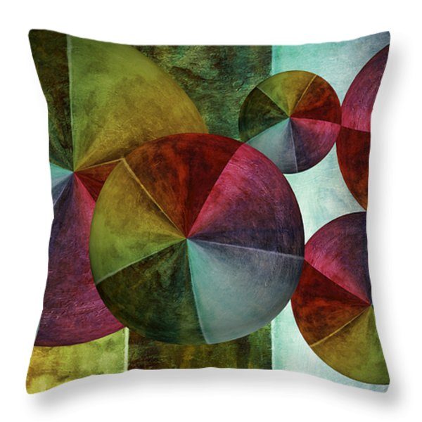 5 Wind Worlds Throw Pillow by Angelina Vick