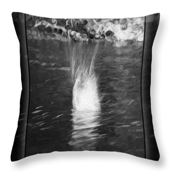 50 Shades Of Grey Abstract Black And White Painting Throw Pillow by Omaste Witkowski