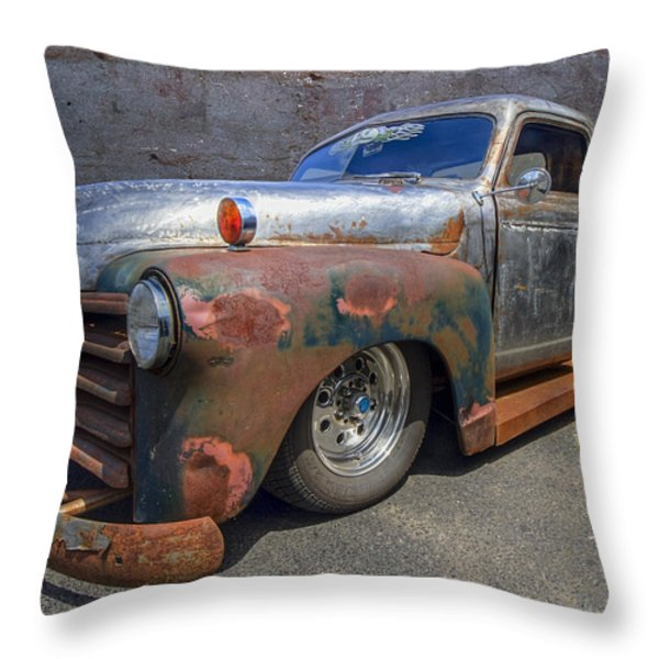 52 Chevy Truck Throw Pillow by Debra and Dave Vanderlaan