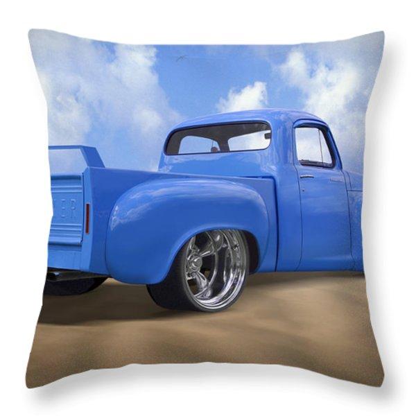 56 Studebaker Truck Throw Pillow by Mike McGlothlen