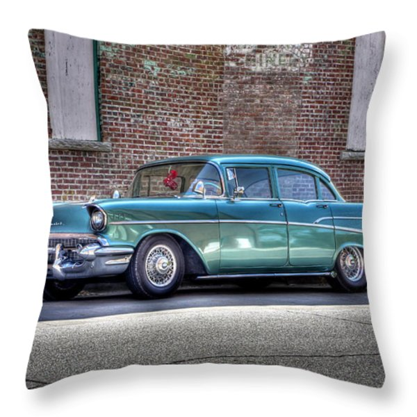 '57 Chevy Throw Pillow by Tony  Colvin