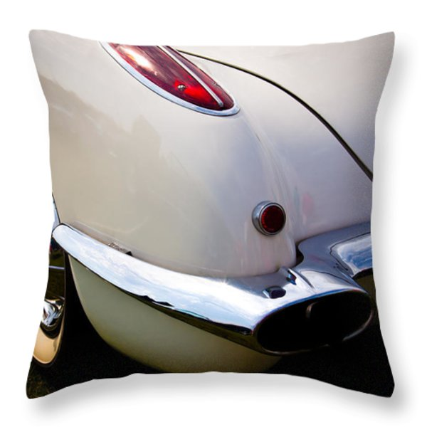 1959 Chevy Corvette Throw Pillow by David Patterson