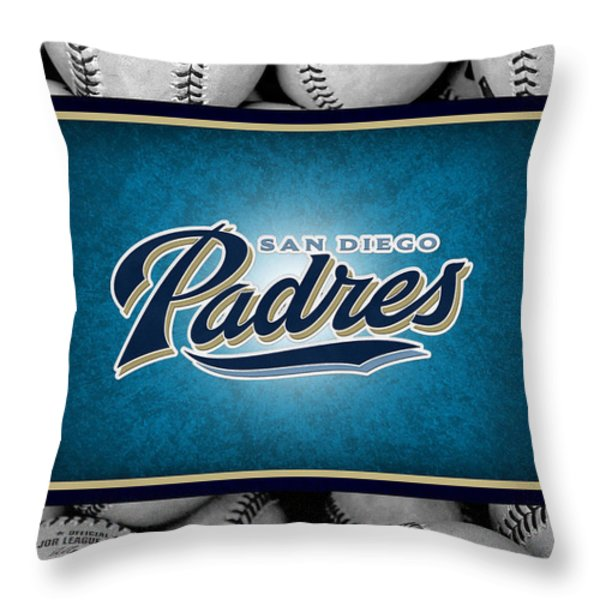San Diego Padres Throw Pillow by Joe Hamilton