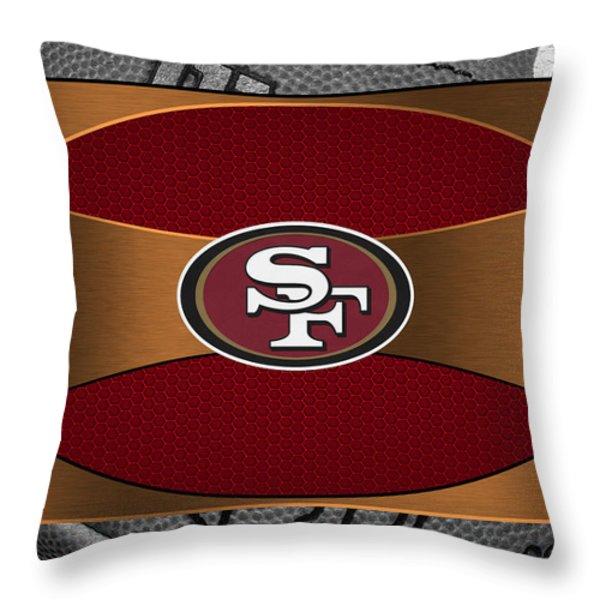 SAN FRANCISCO 49ERS Throw Pillow by Joe Hamilton