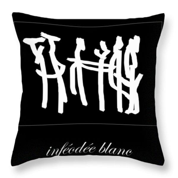 Subservient White Throw Pillow by Sir Josef  Putsche