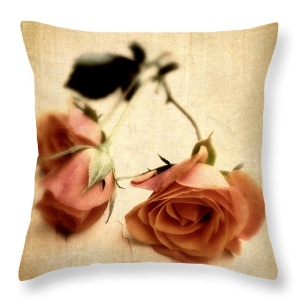 Vintage Rose Throw Pillow by Jessica Jenney