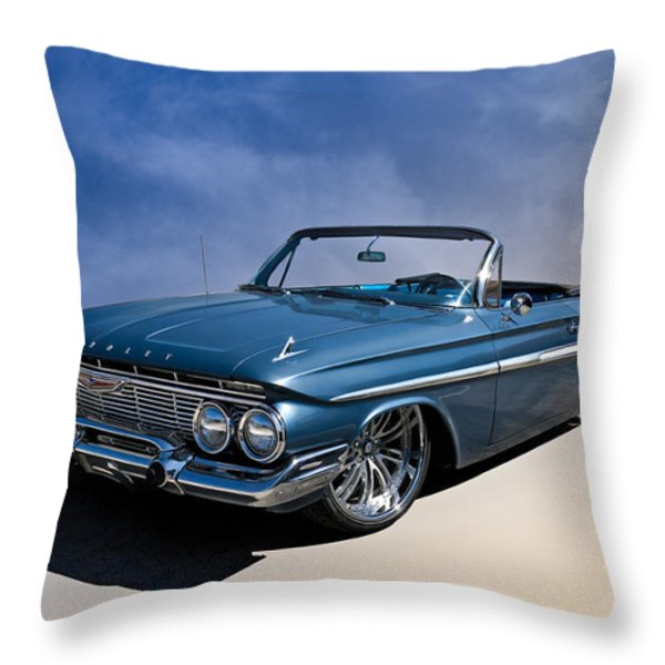 '61 Impala Throw Pillow by Douglas Pittman