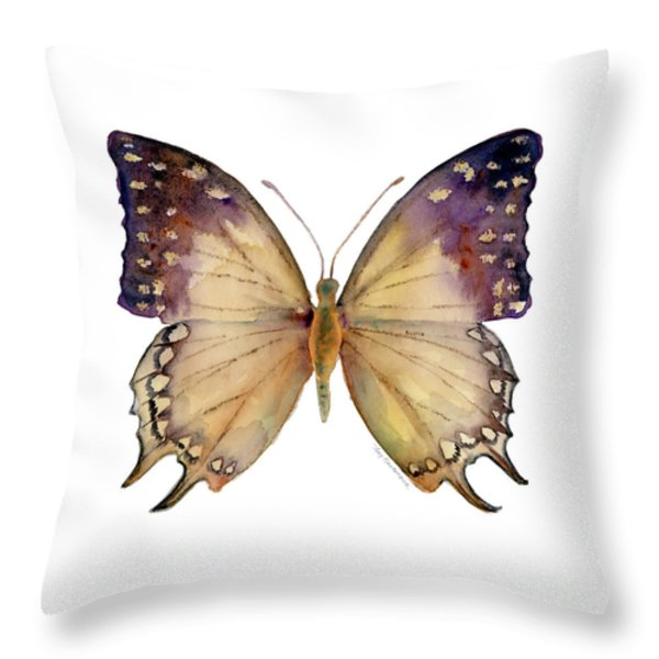 63 Great Nawab Butterfly Throw Pillow by Amy Kirkpatrick