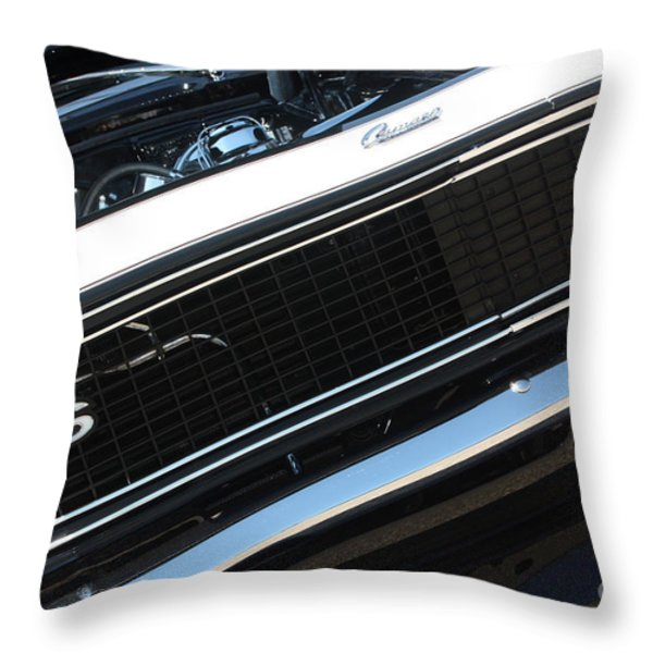 67 Black Camaro Ss Grill-8039 Throw Pillow by Gary Gingrich Galleries