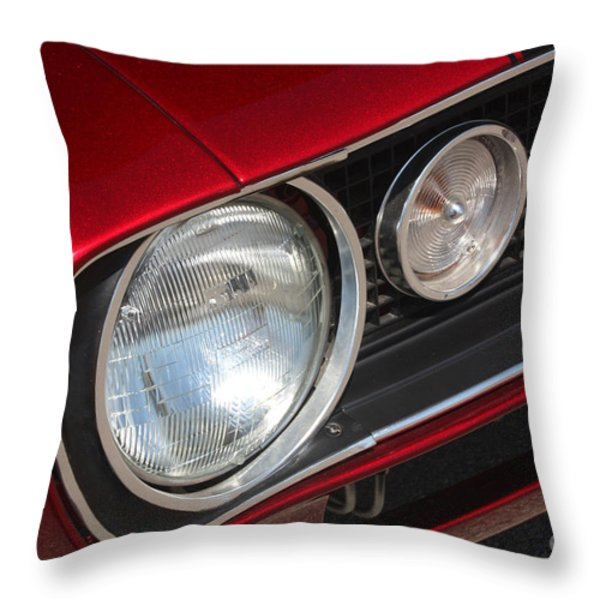 67 Camaro Ss Headlight-8724 Throw Pillow by Gary Gingrich Galleries