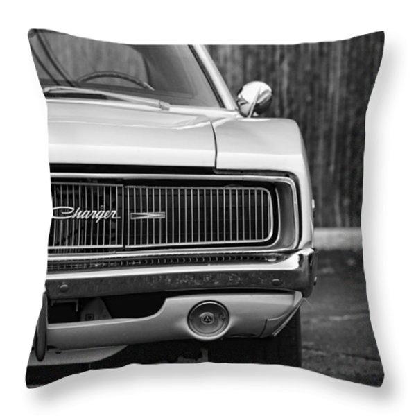 '68 Charger Throw Pillow by Gordon Dean II