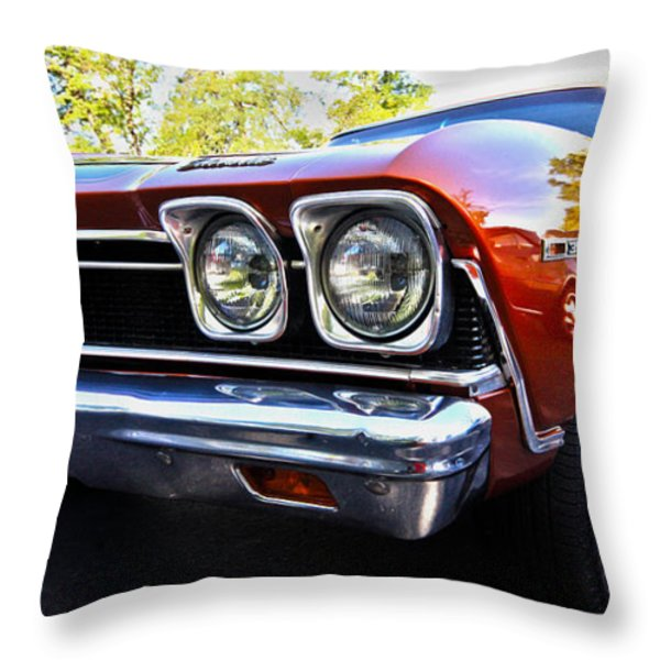 68 Chevelle  color Throw Pillow by Cheryl Young