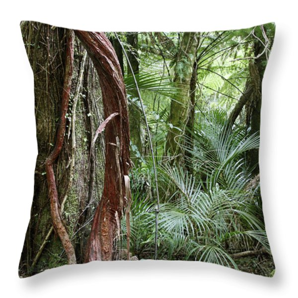Jungle Throw Pillow by Les Cunliffe
