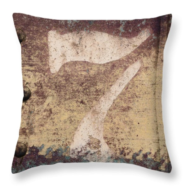 7 And Rivets Throw Pillow by Carol Leigh
