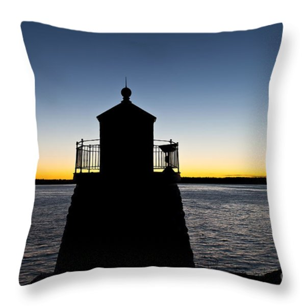 Castle Hill Lighthouse Throw Pillow by John Greim